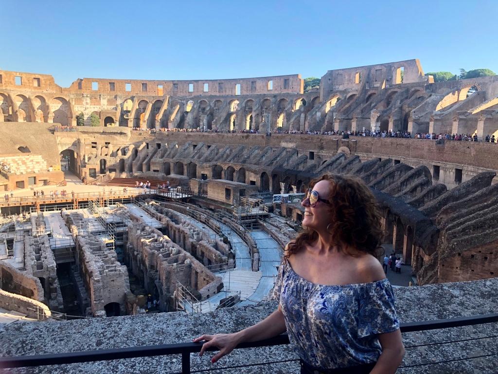 Vista interna del Coliseo romano
