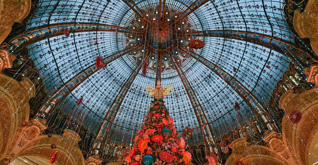Arbol de navidad de Galerías Lafayette. Paris