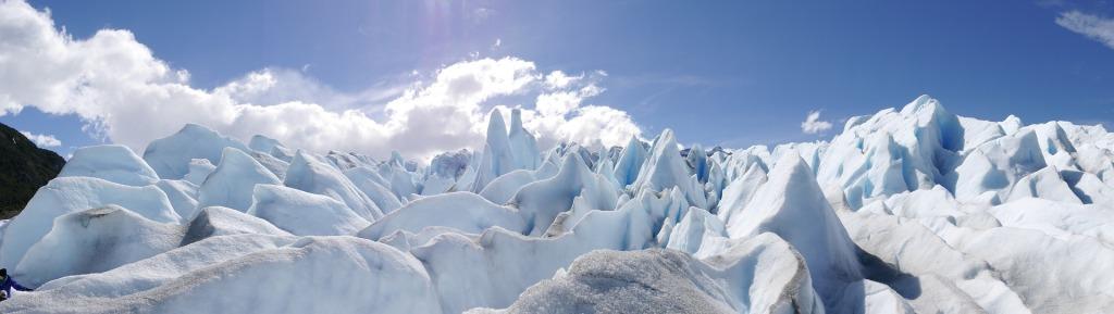 Vista de las formaciones del glaciar Perito Moreno