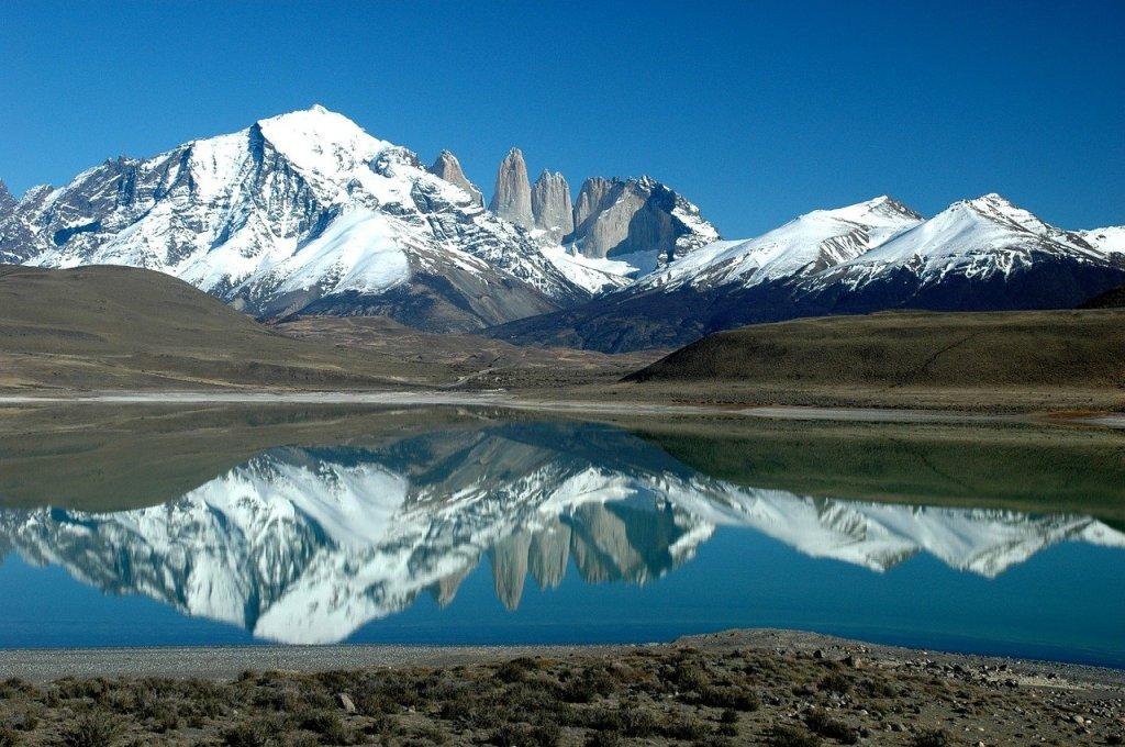 Monte Fitz Roy o cerro Chaltén, en la Patagonia argentina
